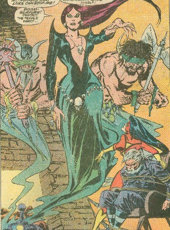 Morgan Le Fay Camelot Avengers Spider Woman Foe