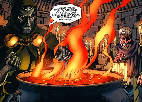 71e3d2e58fd (Books Of Doom I#6 (fb)) - Boris bore witness to Von Doom's mystical  rituals designed to speak with Mephisto. The demon king appeared, amused by  how Doom ...