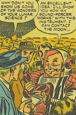 Moon man strange tales alien strange tales i423 the moon man entered grand central station and announced his greetings to the people of earth the crowd thought him only to be m4hsunfo